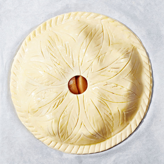 Puff-Pastry Poached-Pear Pie