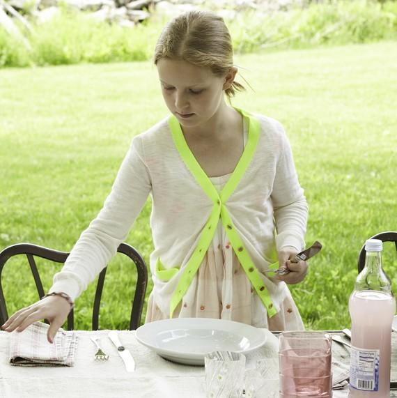 setting table for Easter brunch