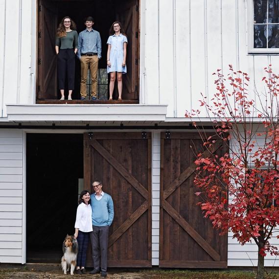 Nordt Family in Barn