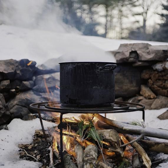 pot of maple sap