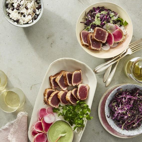 purple power tuna bowl