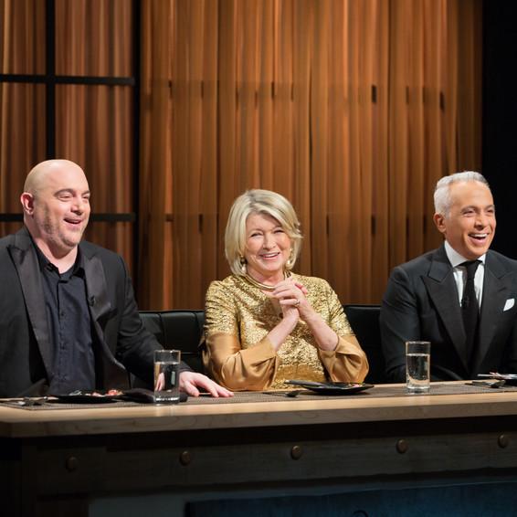 Martha on Chopped judging panel