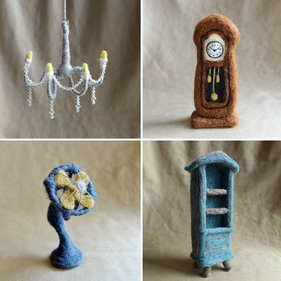 Winnie Chui's needle-felted wool furniture