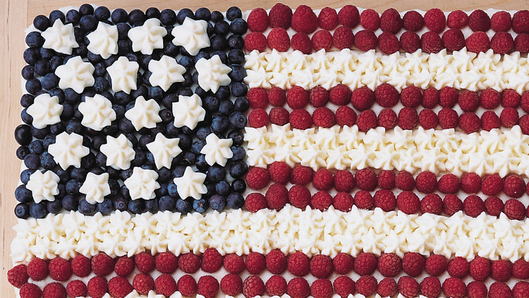 flag cake patriotic independence day fourth of july