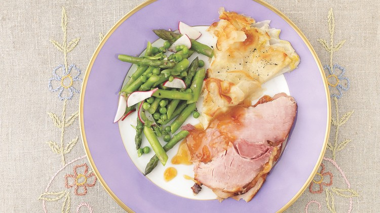 potato galette with ham