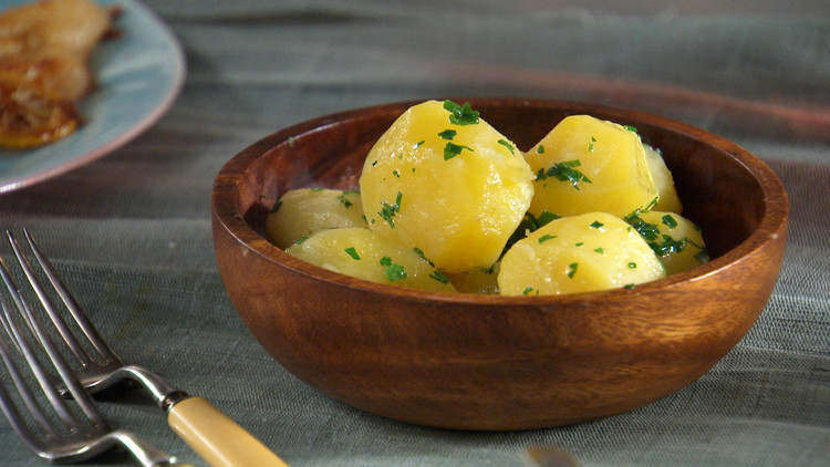 Tourned Steamed Potatoes Recipe Amp Video Martha Stewart