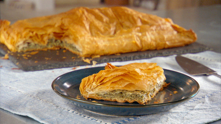 Spinach Pie Byrek Mi Spinaq Recipe Amp Video Martha Stewart