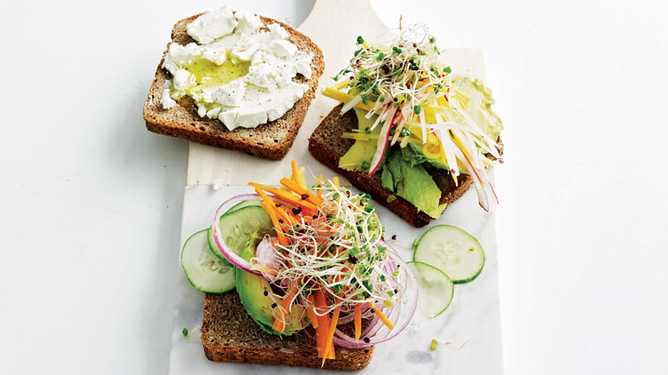 Avocado And Sprout Club Sandwiches Recipe Martha Stewart