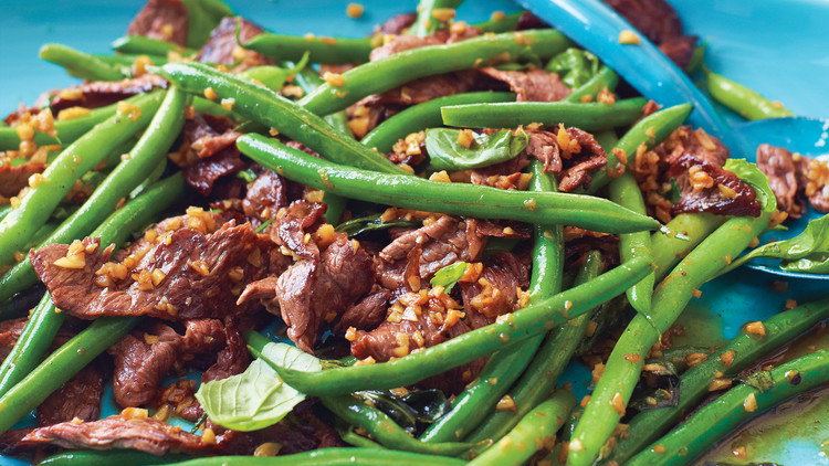 beans recipes Asparagus style beef asian