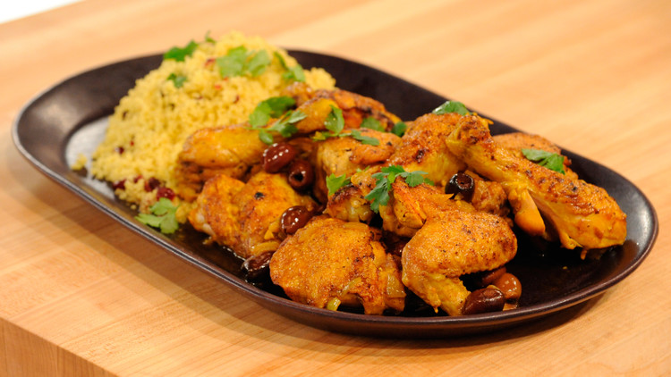 Moroccan chicken tagine with cranberry curry couscous recipe video chicken tagine mslb7078g forumfinder Images