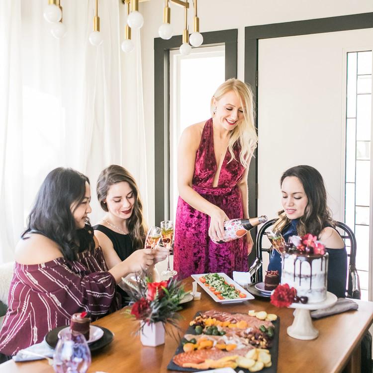galentine's dinner with friends