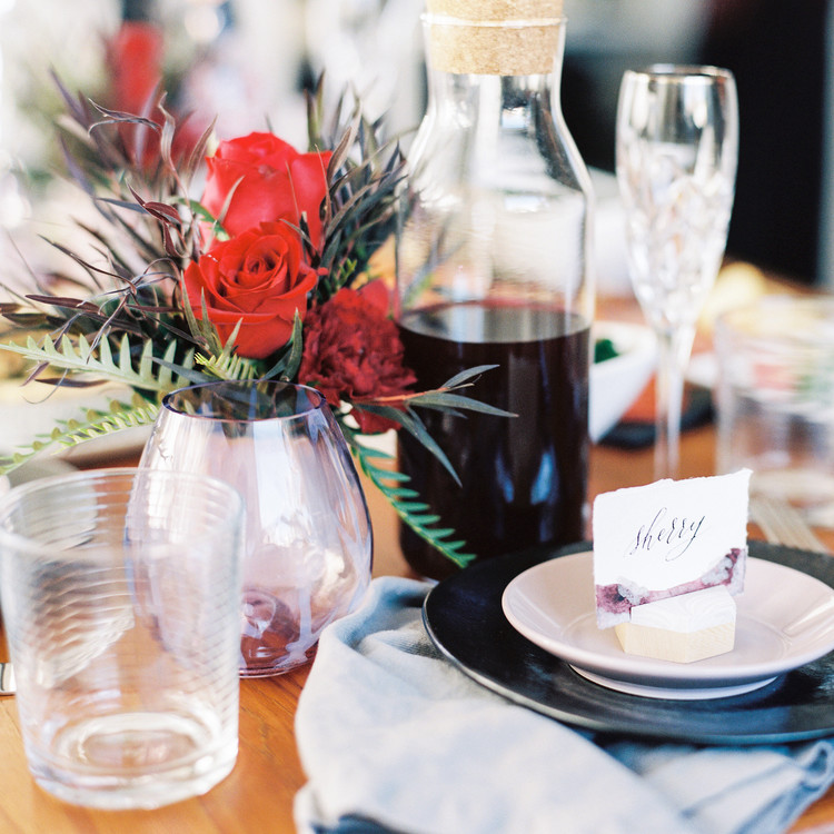 galentine's day placesetting
