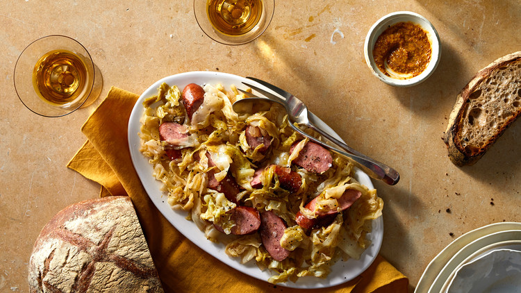 Southern Fried Cabbage With Smoked Sausage