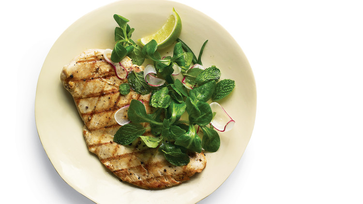 grilled chicken mint salad