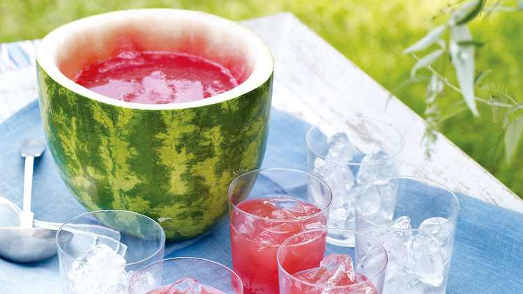 recipe: watermelon alcoholic punch bowl [14]