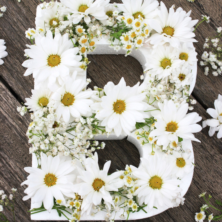 diy floral monogram step 4