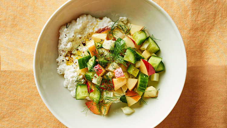 late summer chopped salad with cottage cheese rh marthastewart com cottage cheese salad dressing cottage cheese salad with cucumbers radish