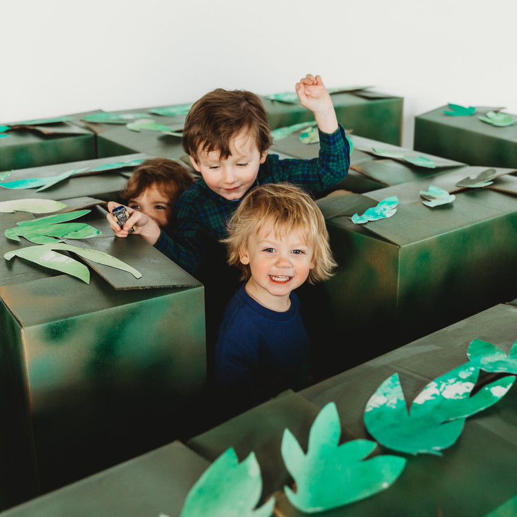 cardboard maze child birthday party