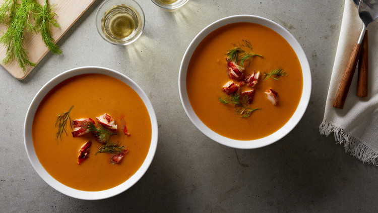 bowls of lobster bisque