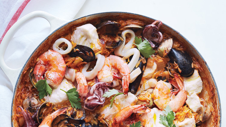 One-Pot Seafood Orzo Risotto