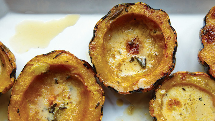 squash with cream and sage