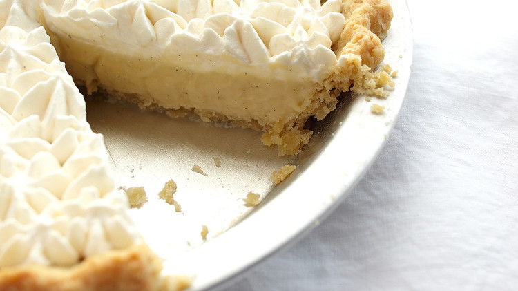 rum vanilla cream pie