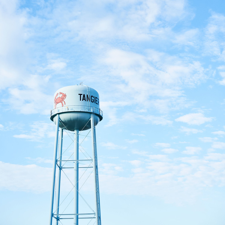 tangier water tower blue sky crab