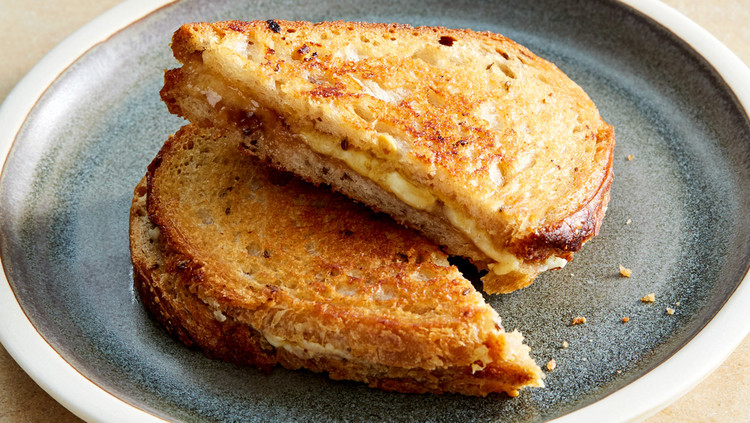Grilled Gruyere Sandwich with Onion Jam