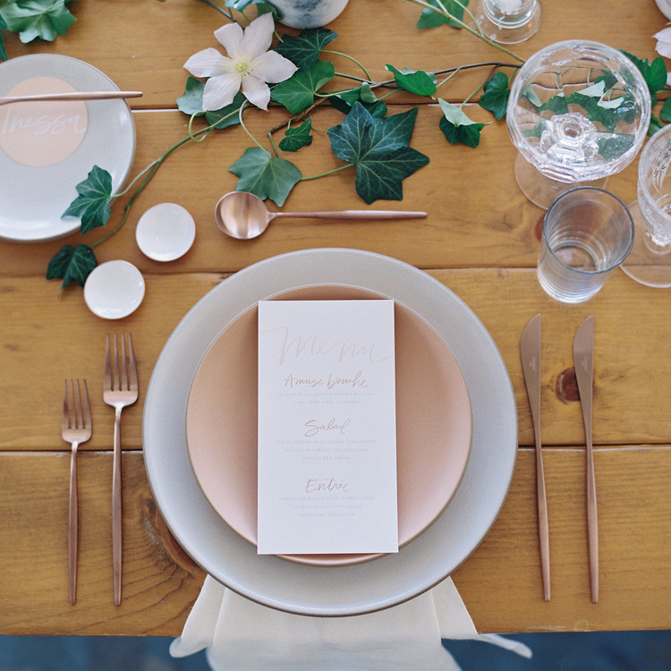 LA Summer brunch table setting
