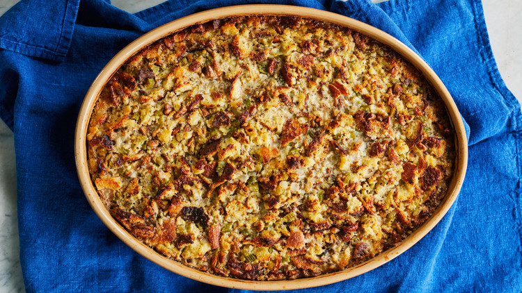 Cornbread Dressing with Sage and Pecans
