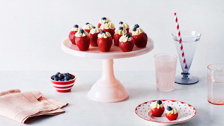 Filled Fourth of July Strawberries