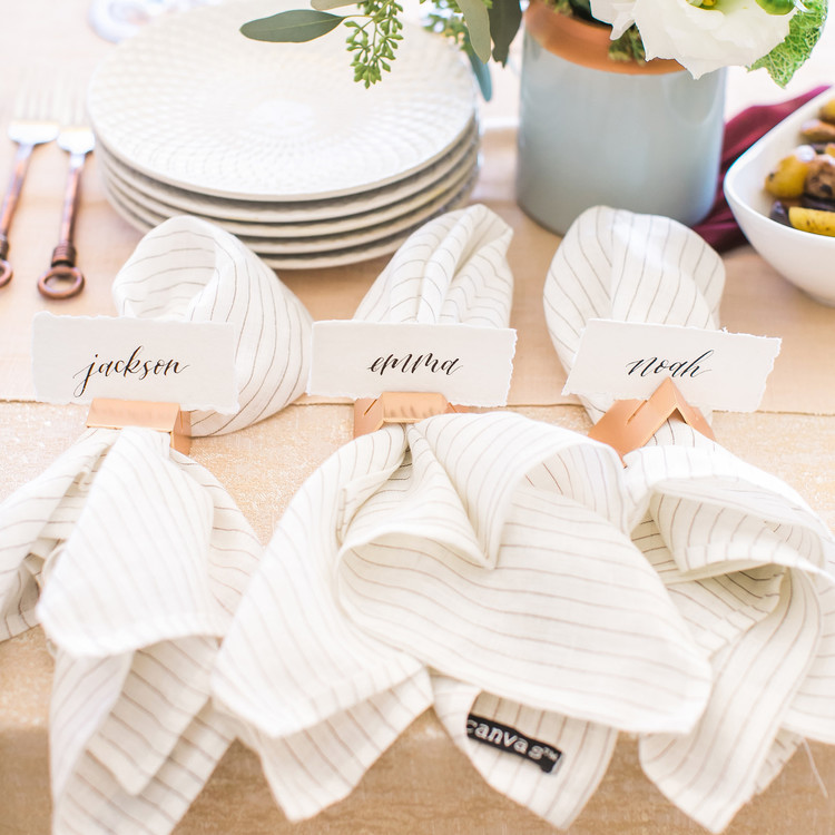 name cards napkins