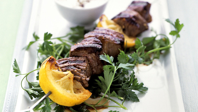 Lemon-Garlic Lamb Kebabs