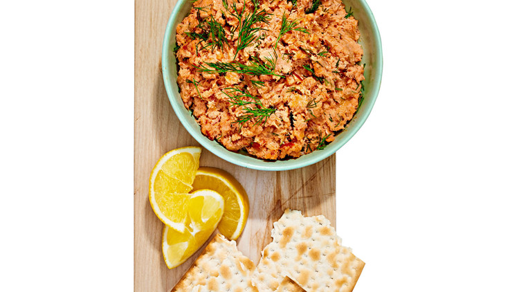 salmon rillettes with matzo