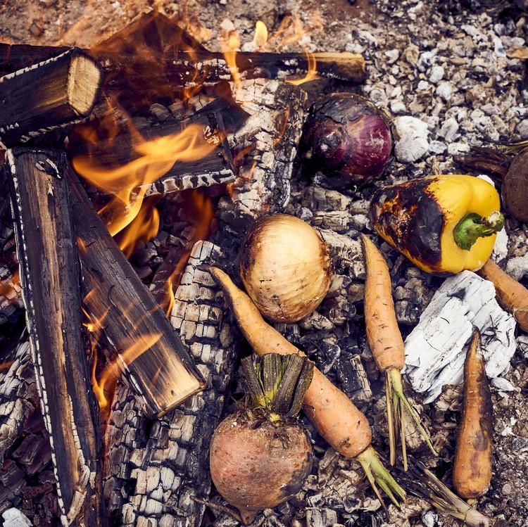 coal roasted vegetables