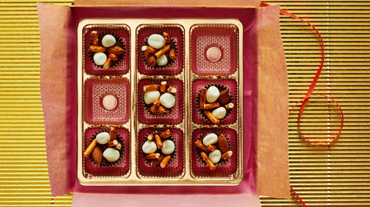 chocolates wrapping box nuts