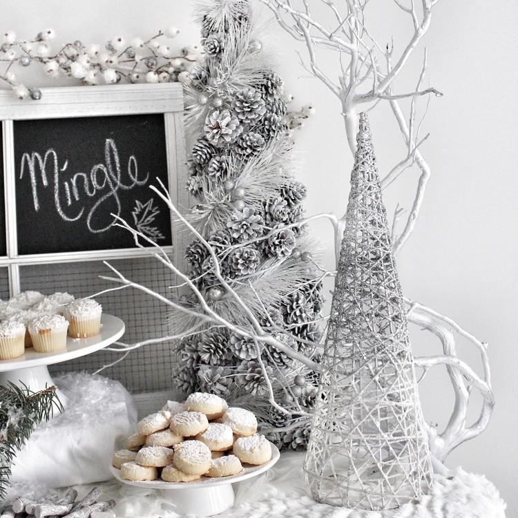 winter white dessert bar