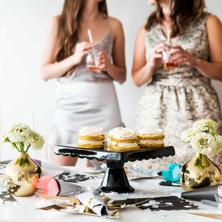 new years eve party disco dessert table