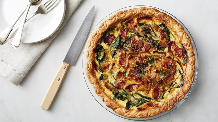 Bacon And Spinach Quiche Recipe Martha Stewart