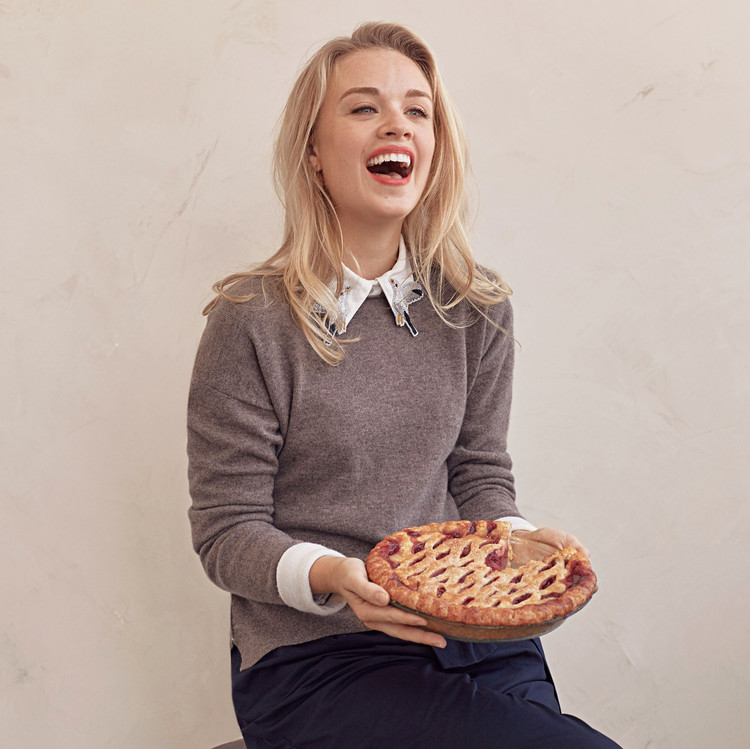 lindsay strand with pie