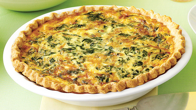 Spinach and Gruyere Quiches