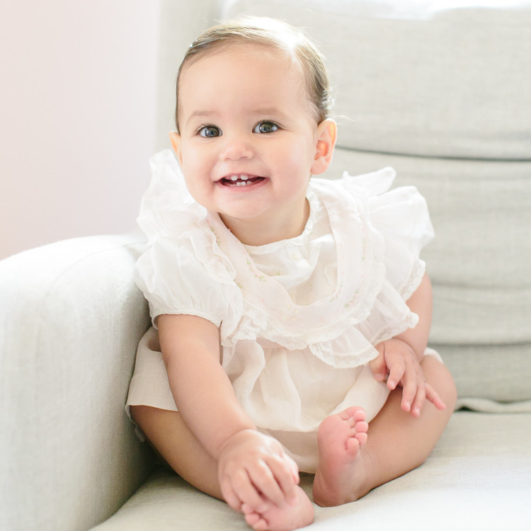 baby smiling liberty london birthday party
