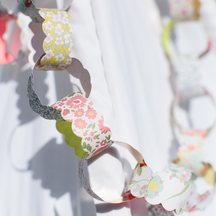 paper chain liberty london birthday party