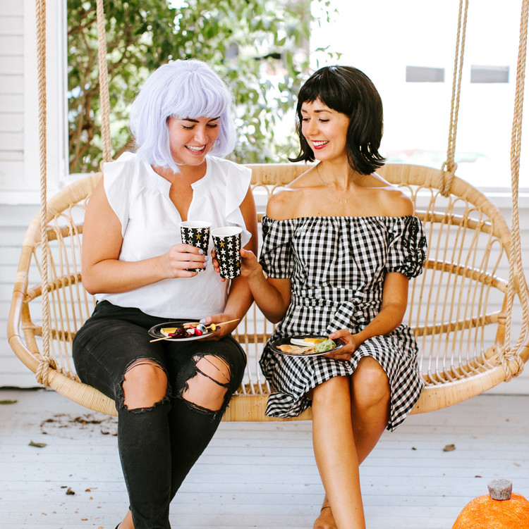 camille styles halloween party porch