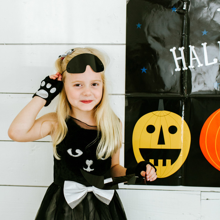 camille styles halloween party girl cat dress
