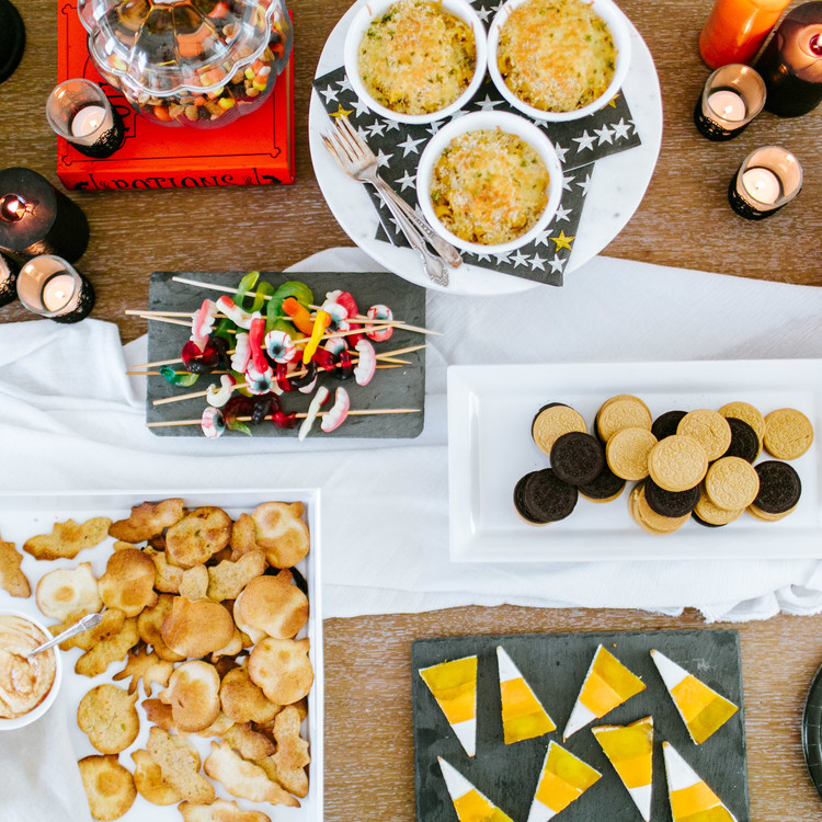 camille styles halloween party appetizer table