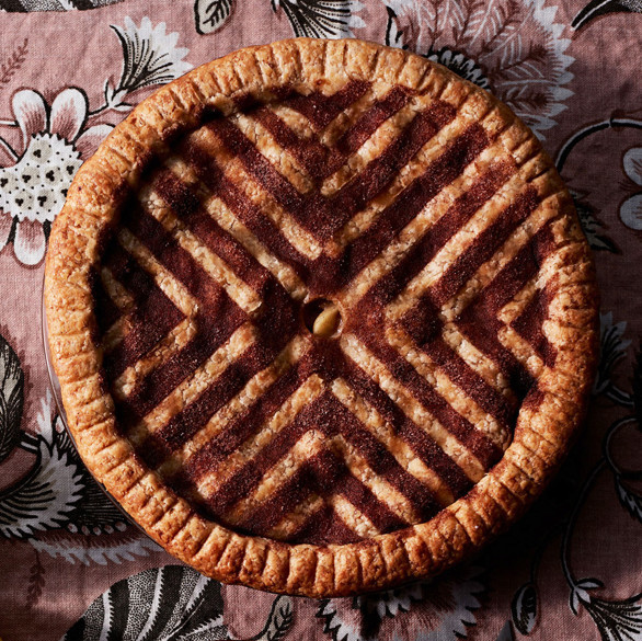 decorative cinnamon sugar stencil double crust apple pie
