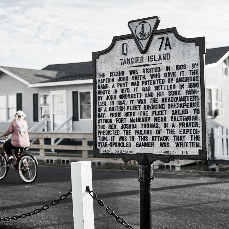 tangier island history sign