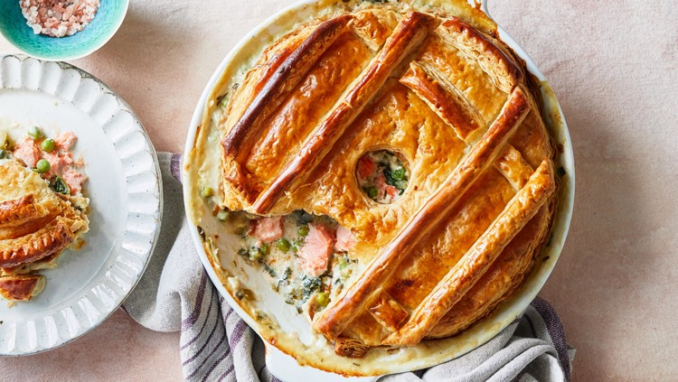 Salmon-and-Spinach Potpie