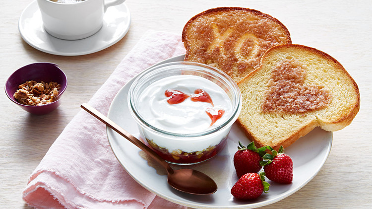 Image result for breakfast toast yoghurt and fruit
